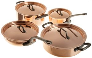 Matfer 915901 8 Piece Bourgeat Copper Cookware Set