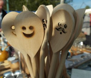 happy wooden spoons