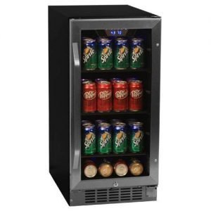 EdgeStar CBR901SG 80 Can 15 Inch Wide Built-In Beverage Cooler