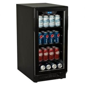 Koldfront BBR900BL 80 Can 15 Inch Wide Built-In Beverage Cooler