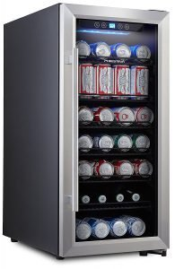 Phiestina PH-CBR100 106 Can Beverage Cooler Stainless Steel Door with Handle