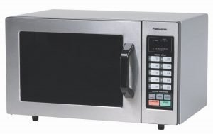 Panasonic NE-1054F .8 cu ft stainless steel commercial microwave oven 1000 watts