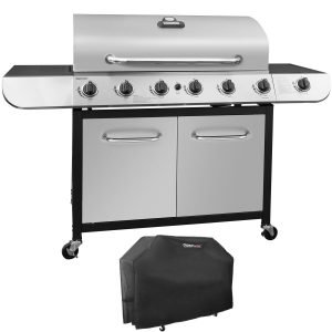 Best Gas Grills For The Money - Royal Gourmet Classic Stainless Steel 6-Burner Cabinet Gas Grill with Side Sear Burner