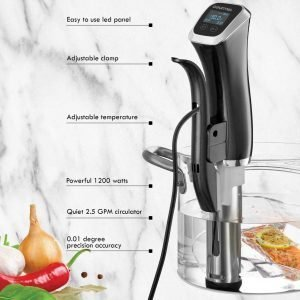 Gourmia GSV140 Immersion Sous Vide Pod 2nd Generation Circulator